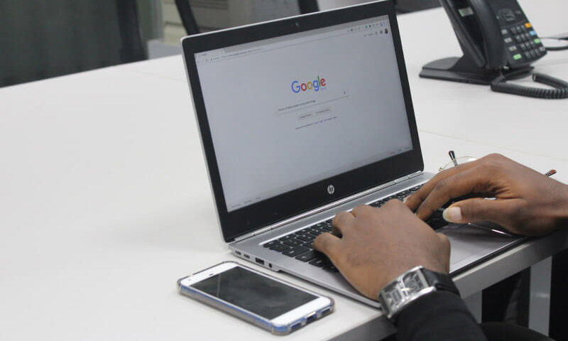Man working on Google SEO