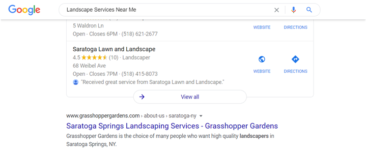 search engine result page